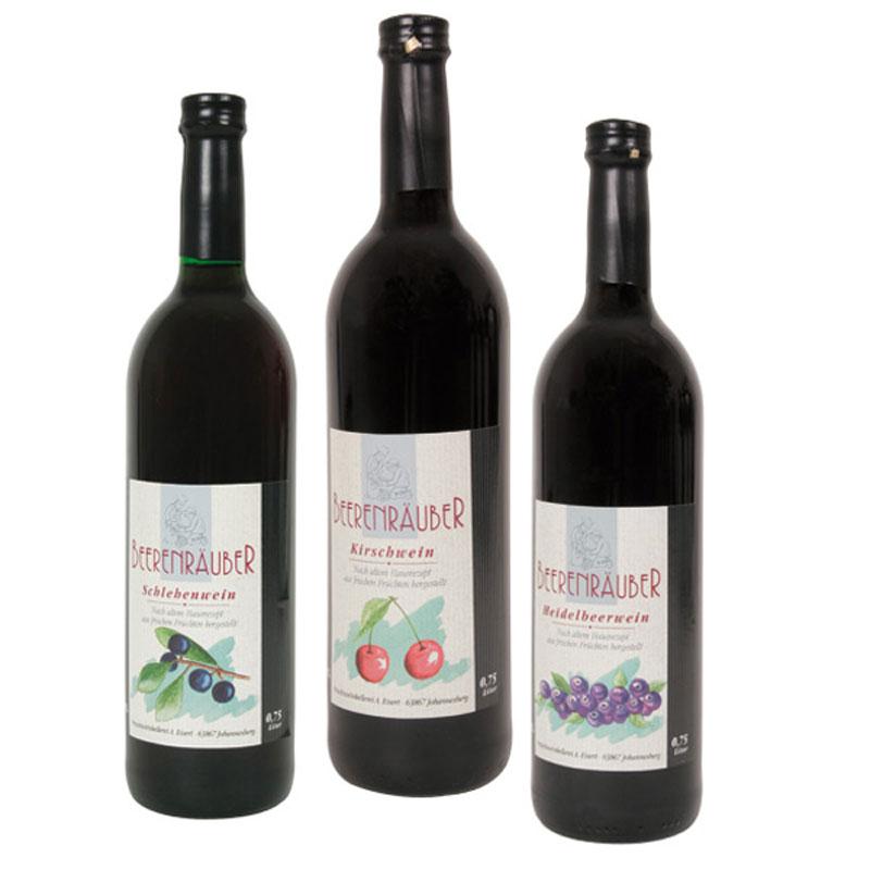 Fruchtwein-Angebot
