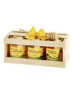 Honig in der Holzkiste