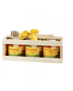 Spanischer Honig in der Holzkiste
