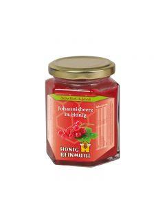 Rote Johannisbeere in Honig