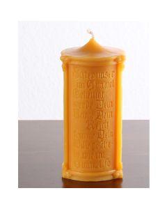 """Kerze """"Vater unser"""" aus Bienenwachs"""