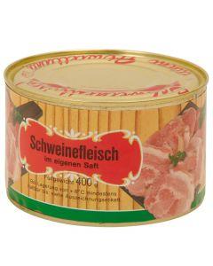 Schweinefleisch im eigenen Saft