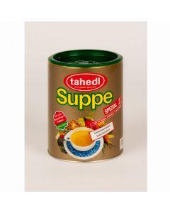 Feine pflanzliche Suppe