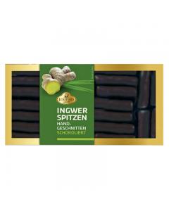 Ingwerspitzen in Zartbitterschokolade