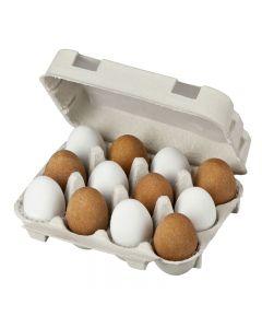 Nougat-Landeier in der Eierschachtel