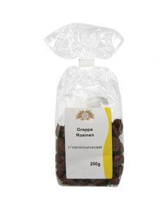Grappa-Rosinen in Vollmilch-Schokolade