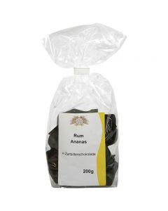 Rum-Ananas in Zartbitter-Schokolade