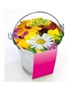 """Zinkeimerchen """"Bunte Blumen"""""""