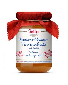 Aprikose-Mango-Passionsfrucht-Konfitüre mit Vanille