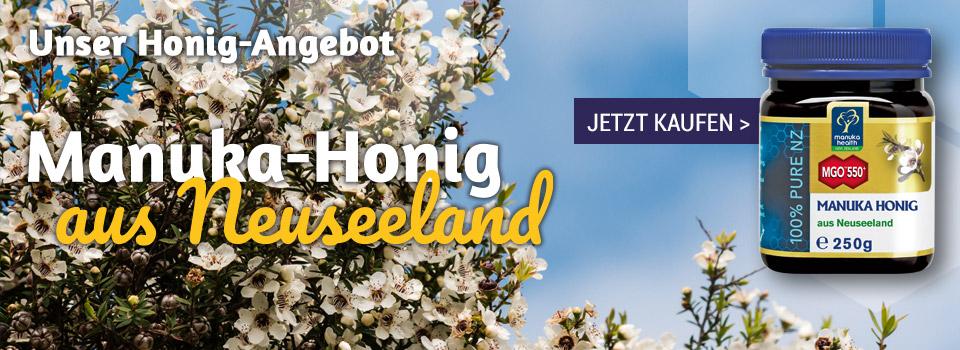 Manukahonig aus Neuseeland - leckerer Manuka-Honig zum Sonderpreis