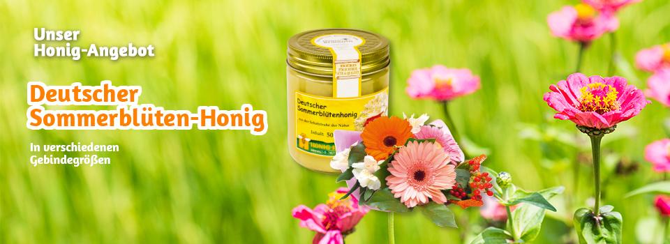 Jetzt im Angebot: Deutscher Sommerblütenhonig