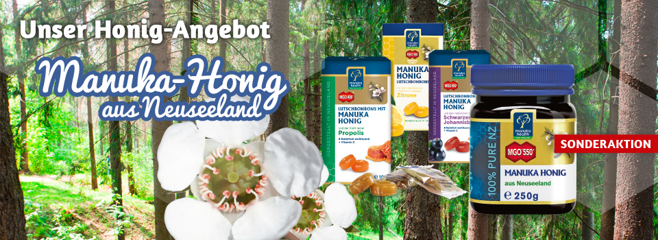 Manuka-Honig aus Neuseeland - jetzt im Sonderangebot