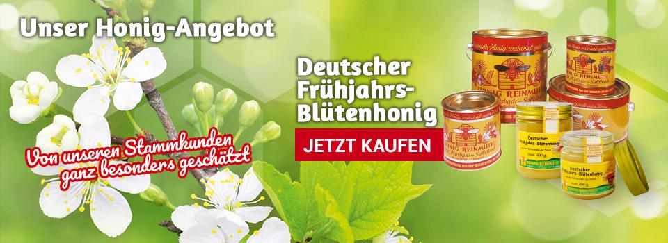 Deutscher Frühjahrsblütenhonig im Sonderangebot
