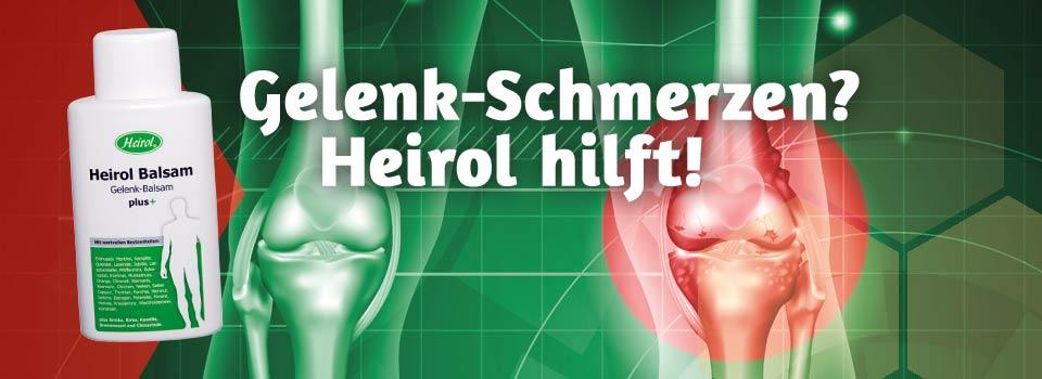 Heirol hilft bei Gelenkschmerzen