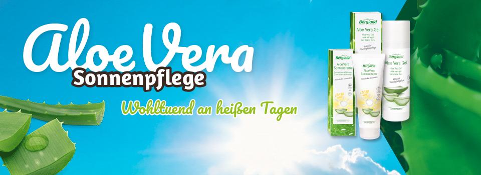 Sonnenpflege mit Aloe Vera