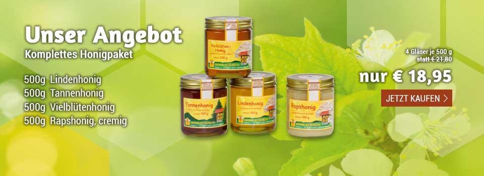 Unser aktuelles Honig-Paket im Angebot!